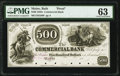 Obsoletes By State:Maine, Bath, ME- Commercial Bank $500 18__ as G80 as Wait 42 Proof PMG Choice Uncirculated 63.. ...