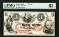 Obsoletes By State:Maine, Bath, ME- Bath Bank $3 18__ as G6 as Wait 6 Proof PMG Choice Uncirculated 63.. ...