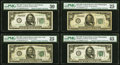 Fr. 2100-A; B; C (2); D (2); F; L $50 1928 Federal Reserve Notes. PMG Graded Very Fine 25-Choice Extremely Fine 45