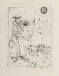 Prints & Multiples, William T. Wiley (b. 1937). Seasonal Gate, 1975. Etching and lithograph on paper. 28 x 22 inches (71.1 x 55.9 cm) (sheet...