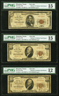 Houston, TX - $5; $10 (2) 1929 Ty. 1 The First National Bank Ch. # 1644 PMG Graded Fine 12-Choice Fine