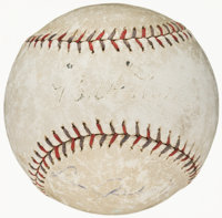 c. 1920s Babe Ruth & Lou Gehrig Dual-Signed Baseball, PSA/DNA
