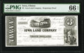 Obsoletes By State:Iowa, Clinton, IA- Iowa Land Company $3 ___ 1858 as Oakes 25-2 Proprietary Proof PMG Gem Uncirculated 66 EPQ.. ...