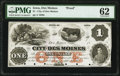 Des Moines, IA- City of Des Moines $1 18__ Oakes 42-1 Proof PMG Uncirculated 62