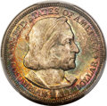 1893 50C Columbian MS66+ PCGS. PCGS Population: (251/38 and 55/6+). NGC Census: (147/34 and 9/2+). MS66. Mintage 1,550,4...