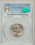 1914 5C MS66+ PCGS. CAC. PCGS Population: (171/36 and 14/2+). NGC Census: (46/8 and 2/0+). CDN: $525 Whsle. Bid for prob...