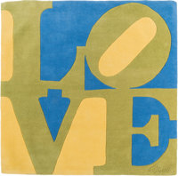 Robert Indiana (American, 1928-2018) Love Tapestry, designed 1964 Wool 71 x 71 inches (180.3 x 18
