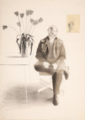 Prints & Multiples, David Hockney (b. 1937). Henry with Tulips, from Friends Series, 1976. Lithograph in colors on Arches Cover paper. 4...
