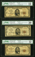 National Bank Notes, Beeville, TX - $10 1929 Ty. 2 The First National Bank Ch. # 4238 PMG Very Fine 30 EPQ;. Caldwell, TX - $20 1929 ... (Total: 11 notes)