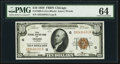 Fr. 1860-G $10 1929 Federal Reserve Bank Note. PMG Choice Uncirculated 64