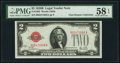 Fr. 1503 $2 1928B Legal Tender Note. PMG Choice About Unc 58 EPQ