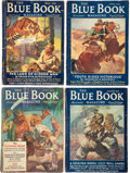 Pulps:Science Fiction, Blue Book/Fantastic Adventures - Edgar Rice Burroughs Group of 6 (Various, 1931-39) Condition: Average GD/VG.... (Total: 6 Items)