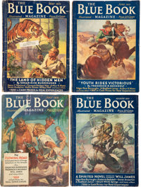 Blue Book/Fantastic Adventures - Edgar Rice Burroughs Group of 6 (Various, 1931-39) Condition: Average GD/VG.... (Total:...