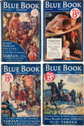 """Pulps:Hero, Blue Book """"Tarzan and the Leopard Men"""" Group of 5 (McCall, 1932-33) Condition: Average GD.... (Total: 5 Items)"""
