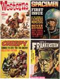 Magazines:Horror, Miscellaneous Horror/Sci-Fi Magazines Box Lot (Various Publishers, 1960-75) Condition: Average FN....
