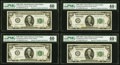 Small Size:Federal Reserve Notes, Fr. 2150-K $100 1928 Federal Reserve Notes. Sixteen Examples. PMG Graded Extremely Fine 40-Choice Extremely Fine 45 EPQ.. ... (Total: 16 notes)