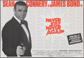 Movie Posters:James Bond, Never Say Never Again (Warner Bros., 1983). Rolled, Very F...