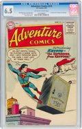 Golden Age (1938-1955):Superhero, Adventure Comics #210 (DC, 1955) CGC FN+ 6.5 Off-white to white pages....