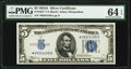 Small Size:Silver Certificates, Fr. 1651* $5 1934A Silver Certificate Star. PMG Choice Uncirculated 64 EPQ.. ...