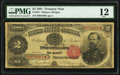 Fr. 357 $2 1891 Treasury Note PMG Fine 12