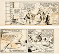 Original Comic Art:Comic Strip Art, Phil Davis Mandrake the Magician Daily Comic Strip Original Art dated 2-5-38 (King Features Syndicate, 1938)....