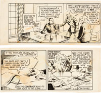 Phil Davis Mandrake the Magician Daily Comic Strip Original Art dated 2-5-38 (King Features Syndicate, 1938)