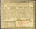 Rhode Island July 2, 1780 $2 About New