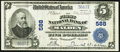 Malden, MA - $5 1902 Plain Back Fr. 598 The First National Bank Ch. # 588 Very Fine