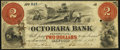 Obsoletes By State:Pennsylvania, Oxford, PA- Octorara Bank Altered $2 Mar. 1, 1858 Fine, HPC.. ...