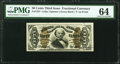 Fractional Currency:Third Issue, Fr. 1337 50¢ Third Issue Spinner PMG Choice Uncirculated 64.. ...