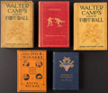 Football Collectibles:Publications, 1891-1925 Walter Camp & Knute Rockne Football Books Lot of 5....