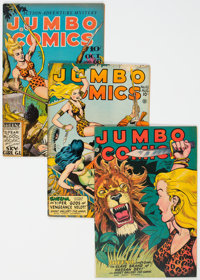Jumbo Comics Group of 7 (Fiction House, 1944-48) Condition: Average FN+.... (Total: 7)
