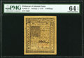 Colonial Notes:Delaware, Delaware January 1, 1776 5s PMG Choice Uncirculated 64 EPQ...