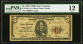 Low Serial Number Fr. 1850-L $5 1929 Federal Reserve Bank Note. PMG Fine 12