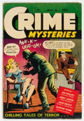 Golden Age (1938-1955):Crime, Crime Mysteries #1 (Ribage Publishing, 1952) Condition: VG-....