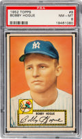 Baseball Cards:Singles (1950-1959), 1952 Topps Bobby Hogue #9 PSA NM-MT 8 - Only Two Higher. ...