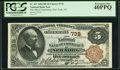 New York, NY - $5 1882 Brown Back Fr. 467 The National Bank of Commerce Ch. # 733 PCGS Extremely Fine 4