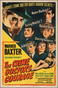 Movie Posters:Mystery, The Crime Doctor's Courage (Columbia, 1945). Folded, Fine+...