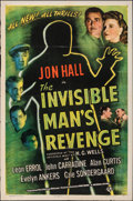 """Movie Posters:Horror, The Invisible Man's Revenge (Universal, 1944). Folded, Fine/Very Fine. One Sheet (27"""" X 41""""). Horror.. ..."""