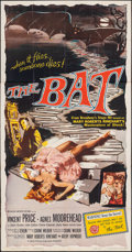 Movie Posters:Horror, The Bat (Allied Artists, 1959). Folded, Fine+. Thr...