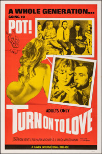 "Turn on to Love (Haven International Pictures, 1969). Folded, Very Fine-. One Sheet (27"" X 41""). Exploitation..."