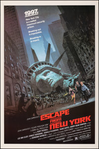"Escape from New York (Avco Embassy, 1981). Rolled, Very Fine/Near Mint. One Sheet (27"" X 41""). Barry Jackson A..."