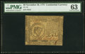 Colonial Notes:Continental Congress Issues, Continental Currency November 29, 1775 $8 PMG Choice Uncir...