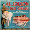 "Movie Posters:Musical, The Jazz Singer (Warner Bros., 1927). Very Fine- on Linen. Six Sheet ( 81.25"" X 79"") Hap Hadley Artwork.. ..."