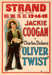 """Oliver Twist (First National, 1922). Fine- on Linen. One Sheet (28.25"""" X 41"""")"""