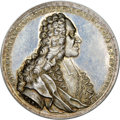 "German States:Augsburg, German States: Augsburg. Free City silver ""Election of Martin Hieronymus"" Medal 1738-Dated MS63 NGC,..."