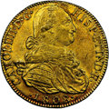 Colombia, Colombia: Charles IV gold 8 Escudos 1808 NR-JJ AU55 NGC,...