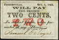 Obsoletes By State:New Hampshire, Fisherville, NH- Samuel G. Noyes 2¢ Oct. 1, 1864 About Uncirculated.. ...
