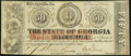 Milledgeville, GA- State of Georgia $50 Feb. 2, 1863 Cr. 7 About Uncirculated
