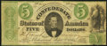 Confederate Notes:1861 Issues, T33 $5 1861 PF-7 Cr. 254Ba Fine.. ...